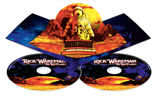 Pop-up special limited edition of the Red Planet by Rick Wakeman containing CD and DVD.